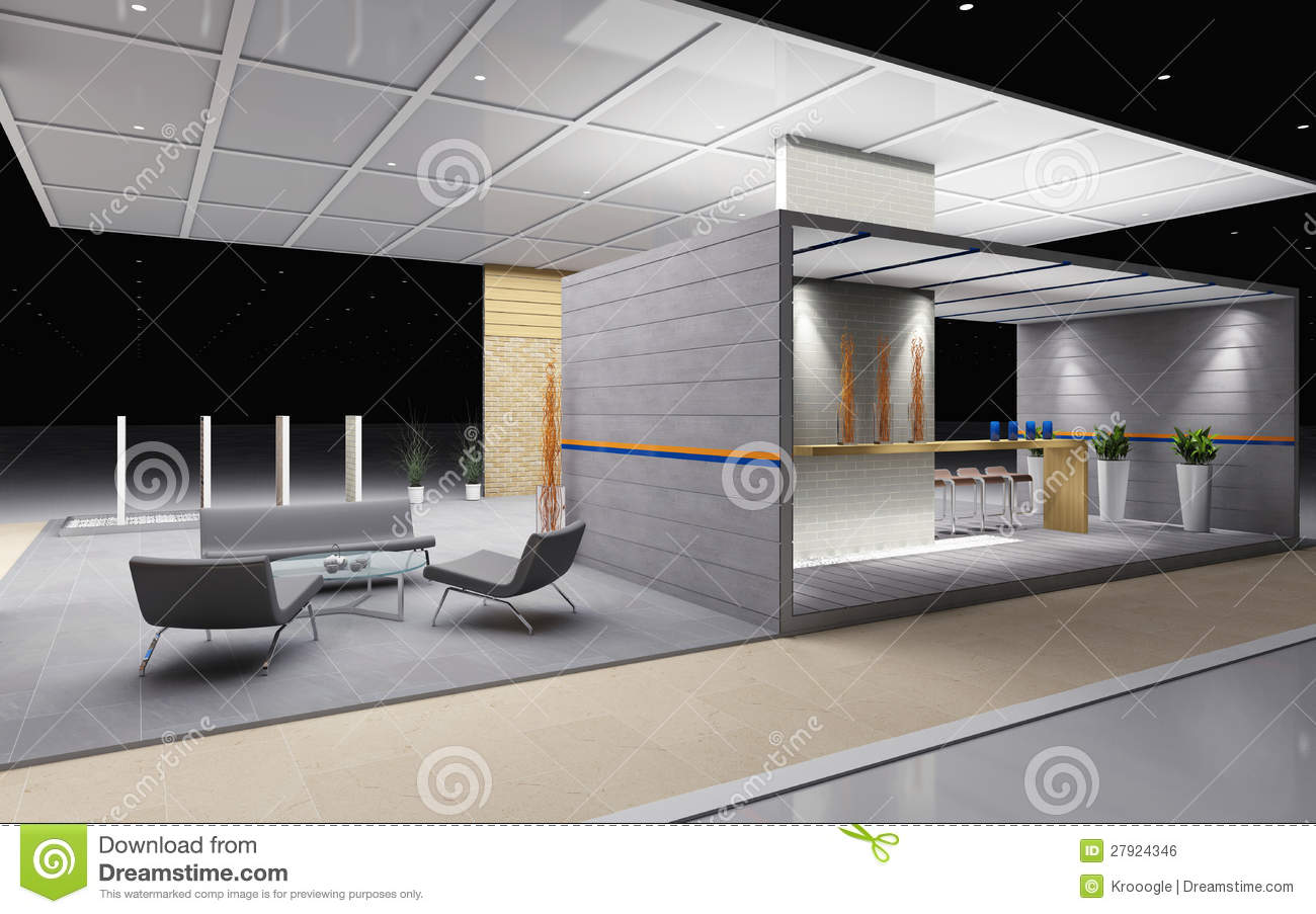 Exhibition Stand Design Illustrator : Exhibition booth stock illustration of