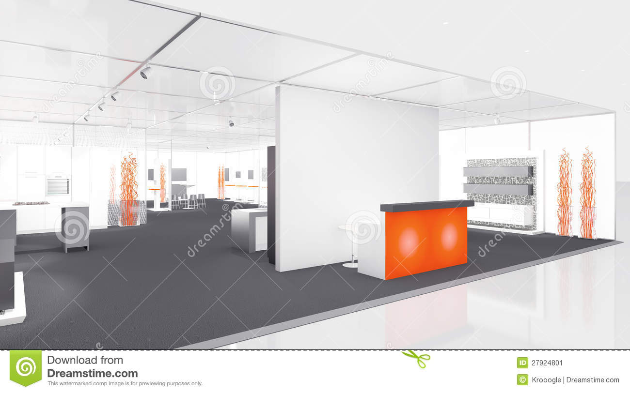 Exhibition Booth Vector : Exhibition booth stock image