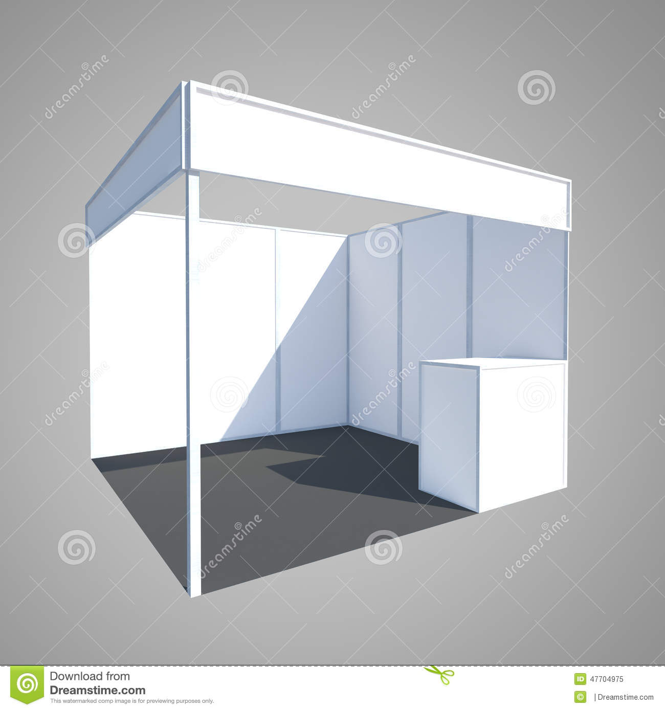 Exhibition Booth Banner : Exhibition booth display stand fair stock illustration