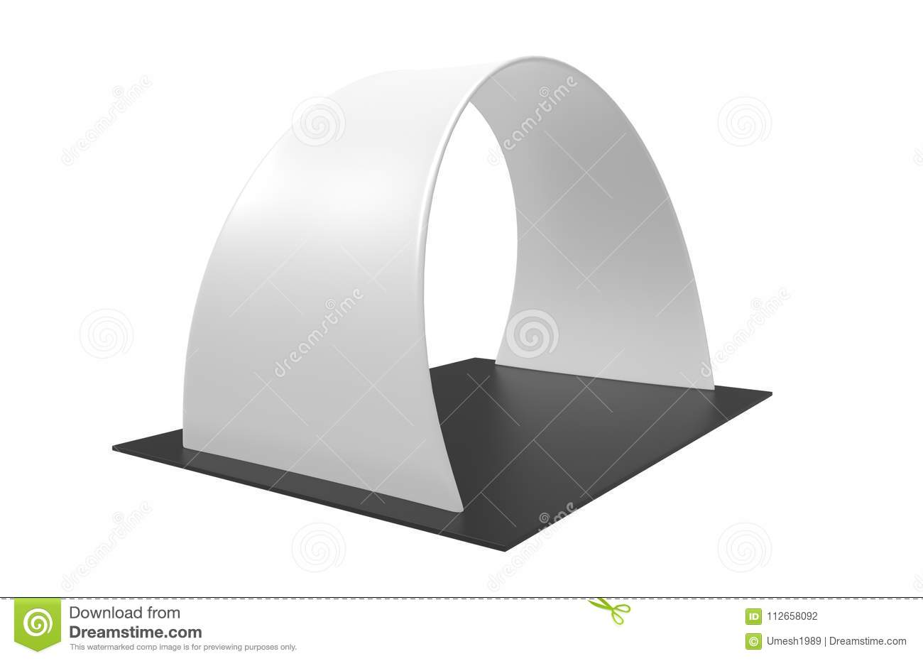 Exhibition Stall Icon : Exhibition booth tension fabric advertising banner curved arch