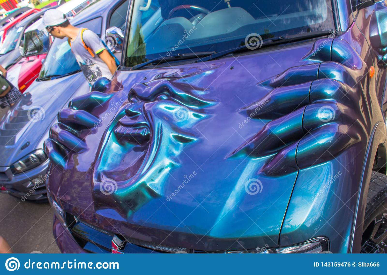Exhibition of cars in the summer in Komsomolsk-on-Amur retro cars and tuned cars