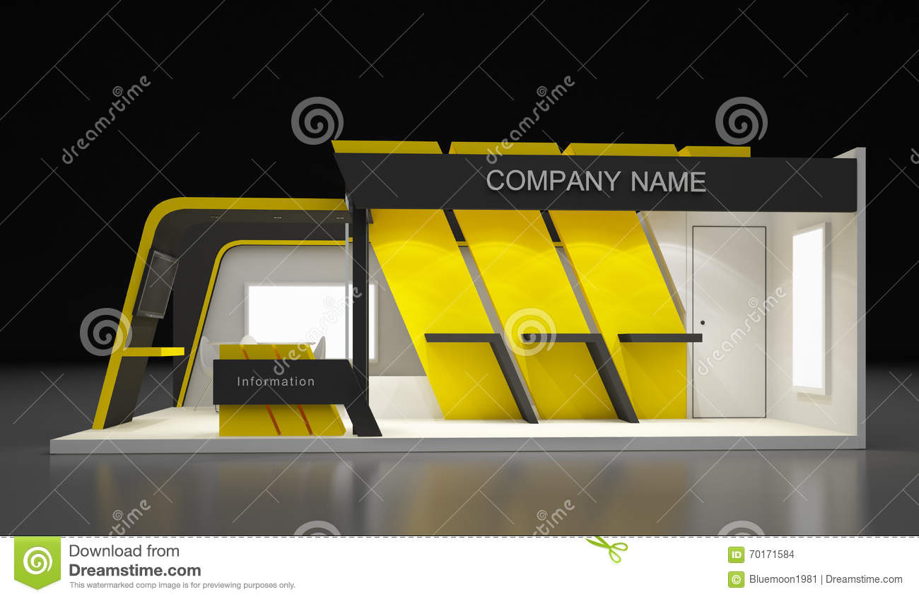 Modern Exhibition Booth Design : Exhibition design concept stock illustration
