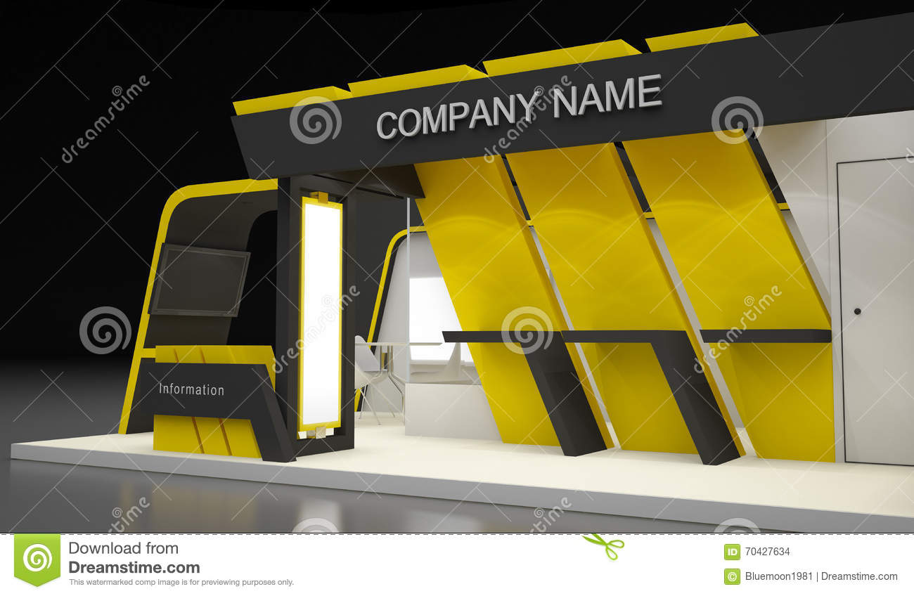 Modern Exhibition Booth Design : Exhibition design concepts stock illustration image