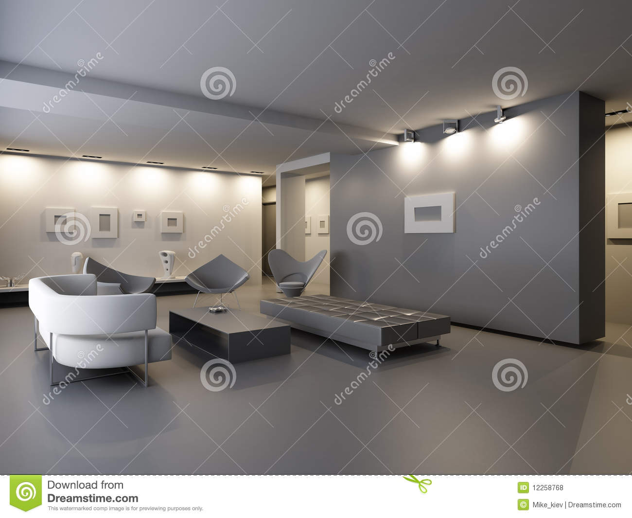 Exhibition Hall Interior Stock Illustration Image Of