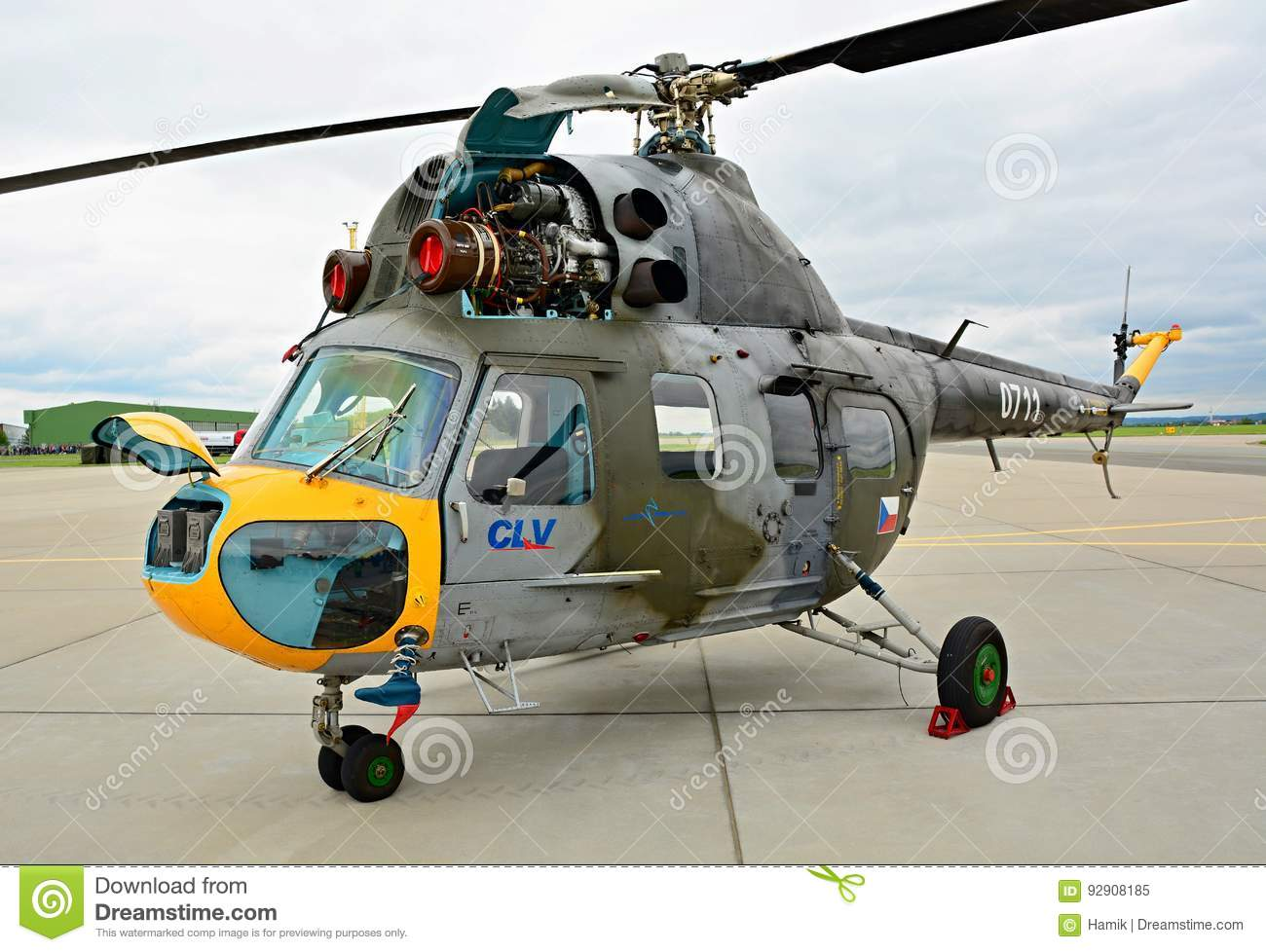 Exhibition Of Mil Mi 2 Helicopter Editorial Image