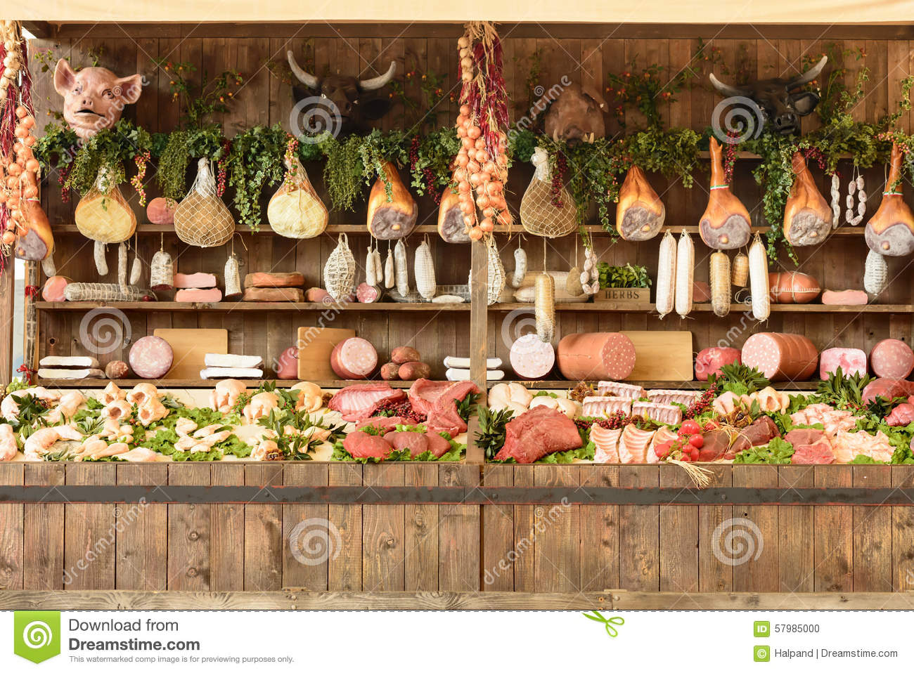 Food Exhibition Stall : Exhibition of mockups butchery food expo milan