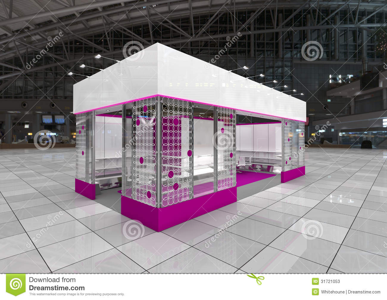 Modern Exhibition Stand Out : Exhibition module stock photos image