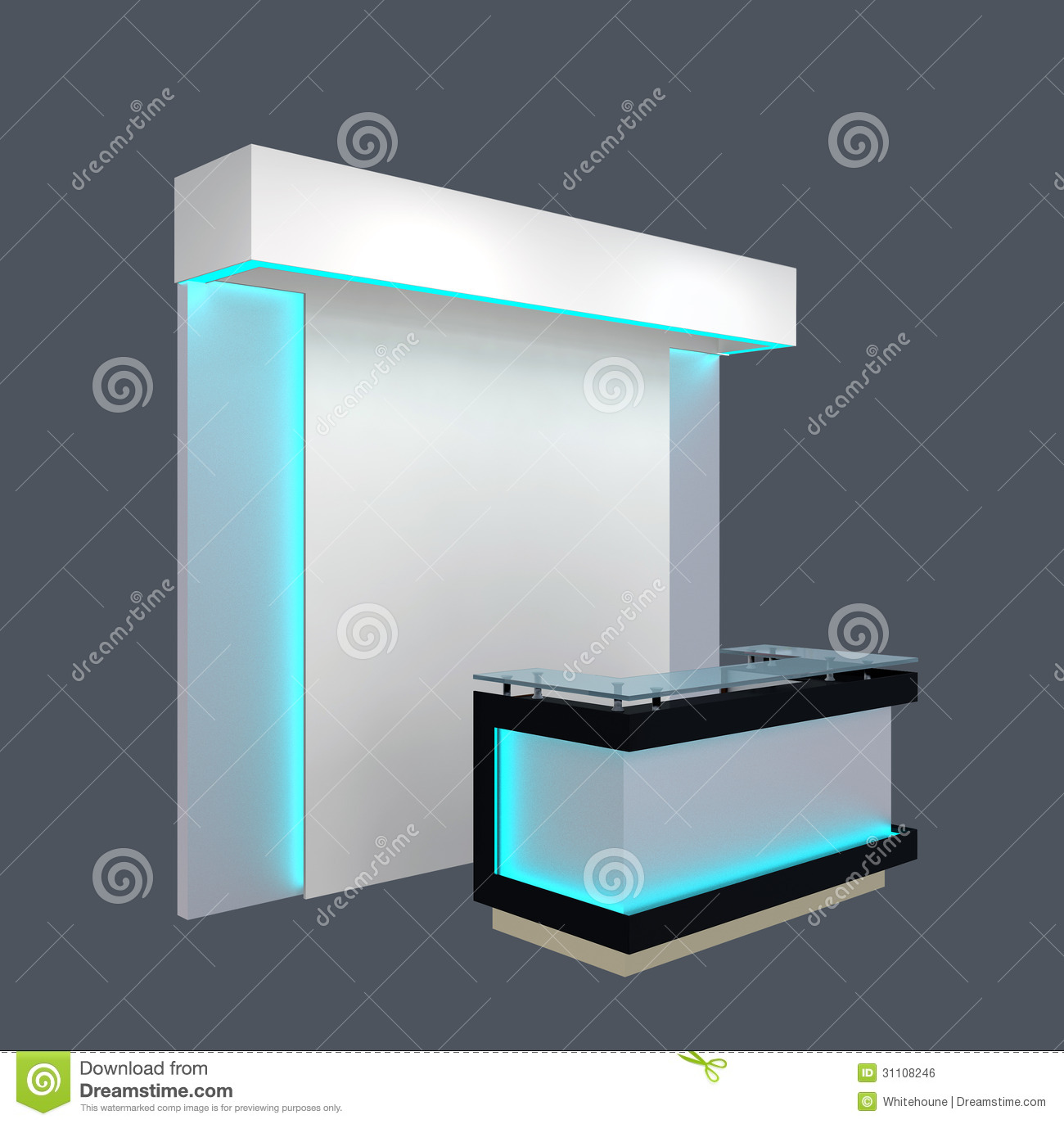 Modern Exhibition Stand Vector : Exhibition module royalty free stock image