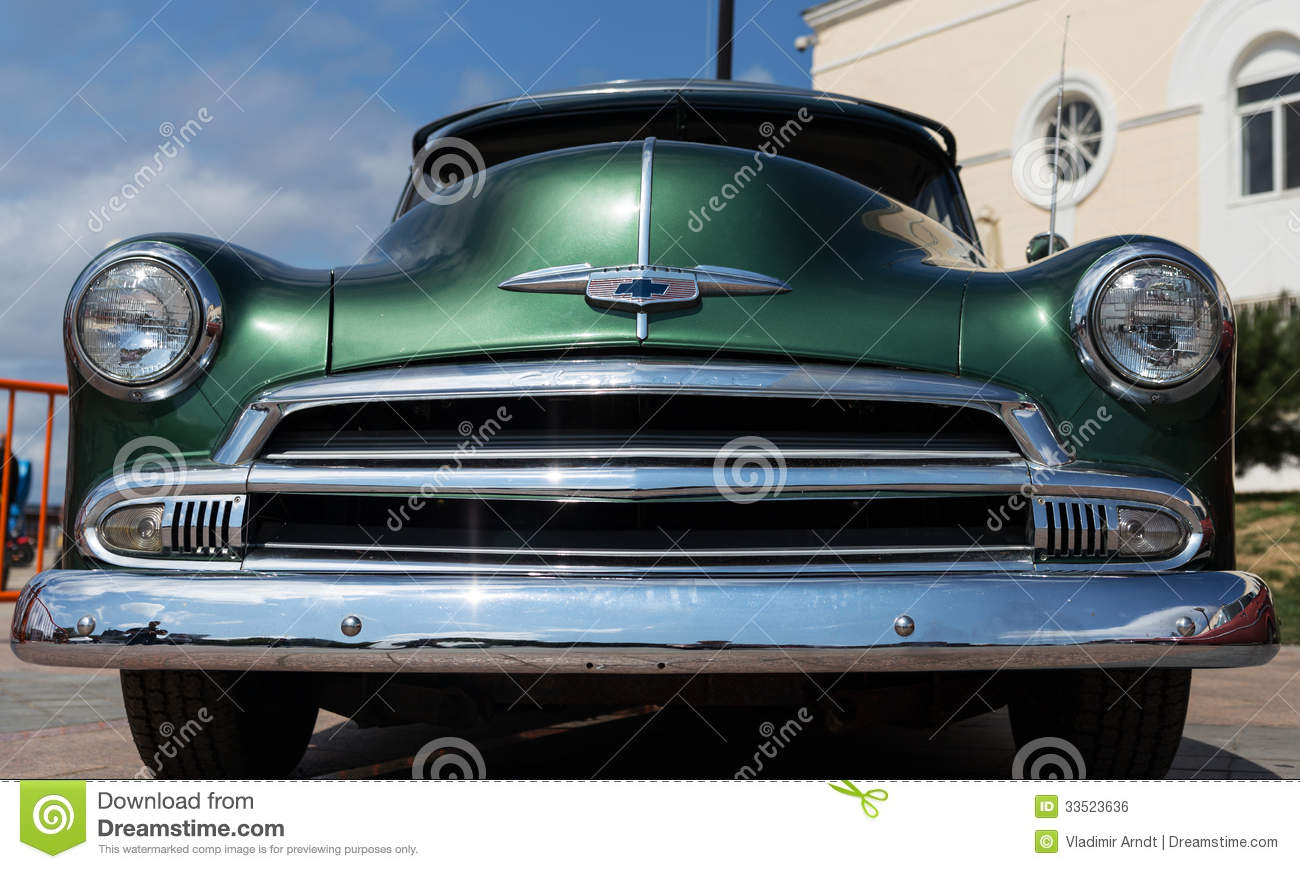 Exhibition Of Old American Classic Cars In Vladivostok. Editorial ...