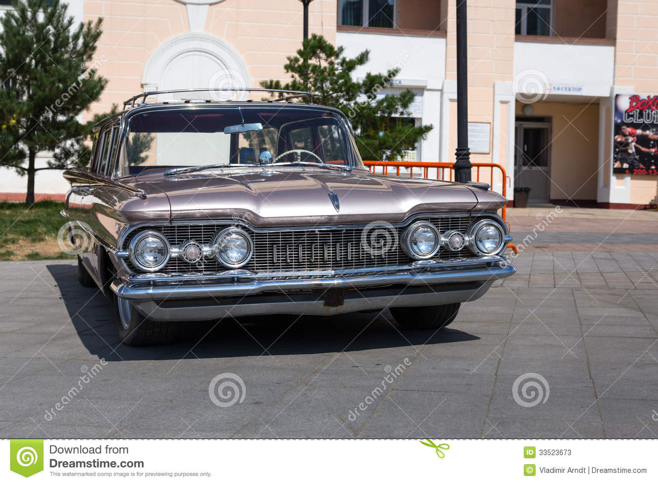 Exhibition Of Old American Classic Cars In Vladivostok