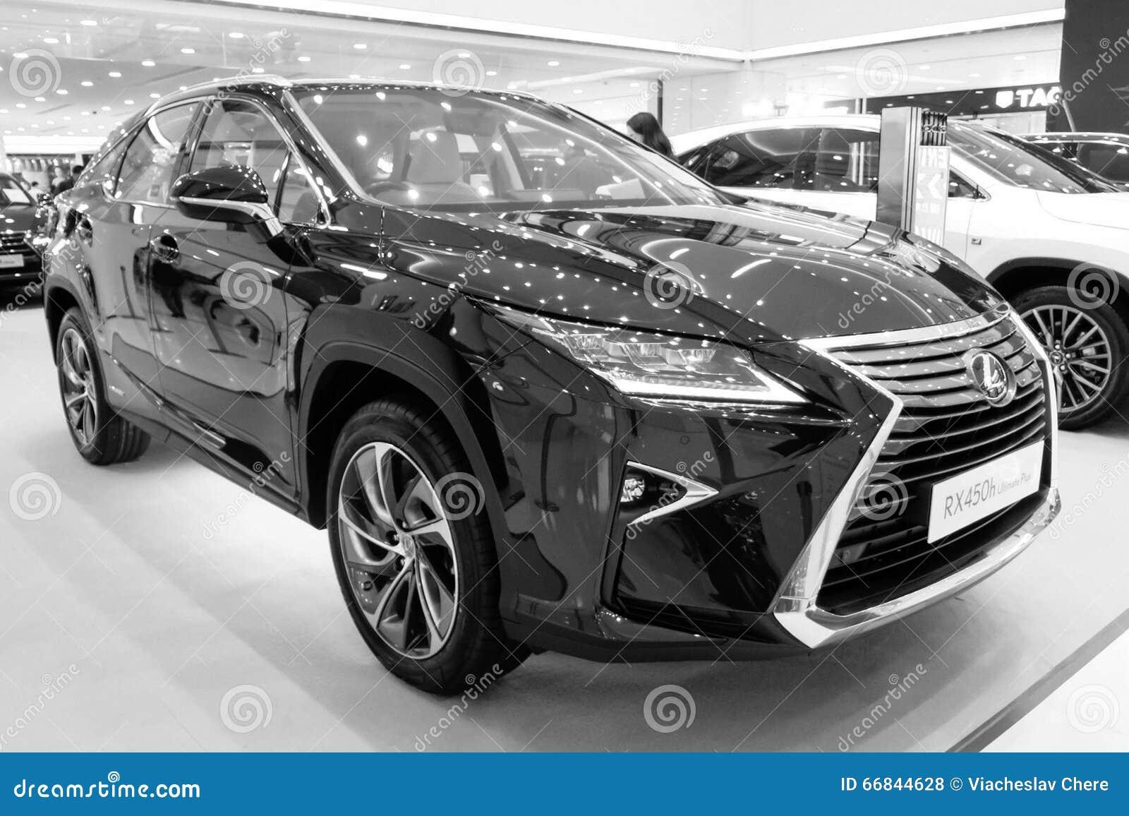Exhibition Presentation Of A New Car Model Lexus Editorial Stock