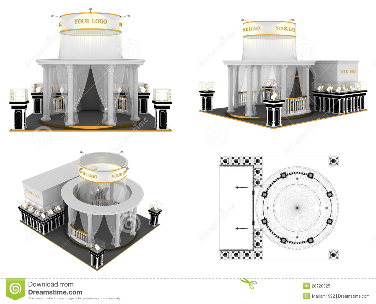 Exhibition Stand Drawing : Exhibition stand stock illustration image of indoor