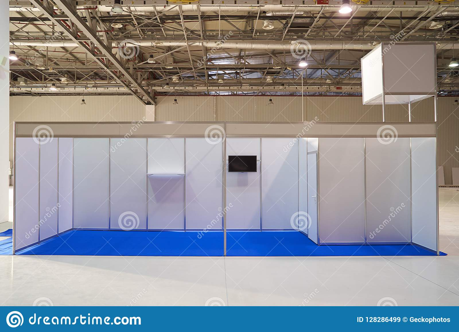 Exhibition Stand Lighting Xl : Exhibition stand design equipment in business centre stock image