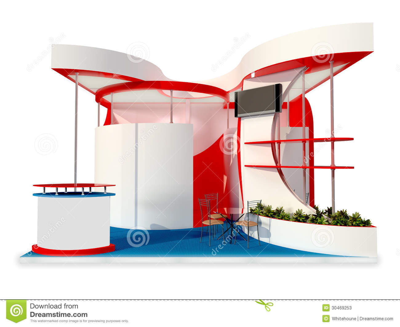 Modern Exhibition Stand Design : Exhibition stand design stock photos image