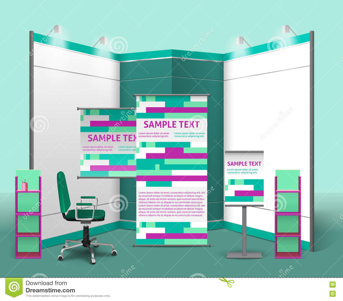 Exhibition Stand Design Vector : Exhibition stand template royalty free illustration