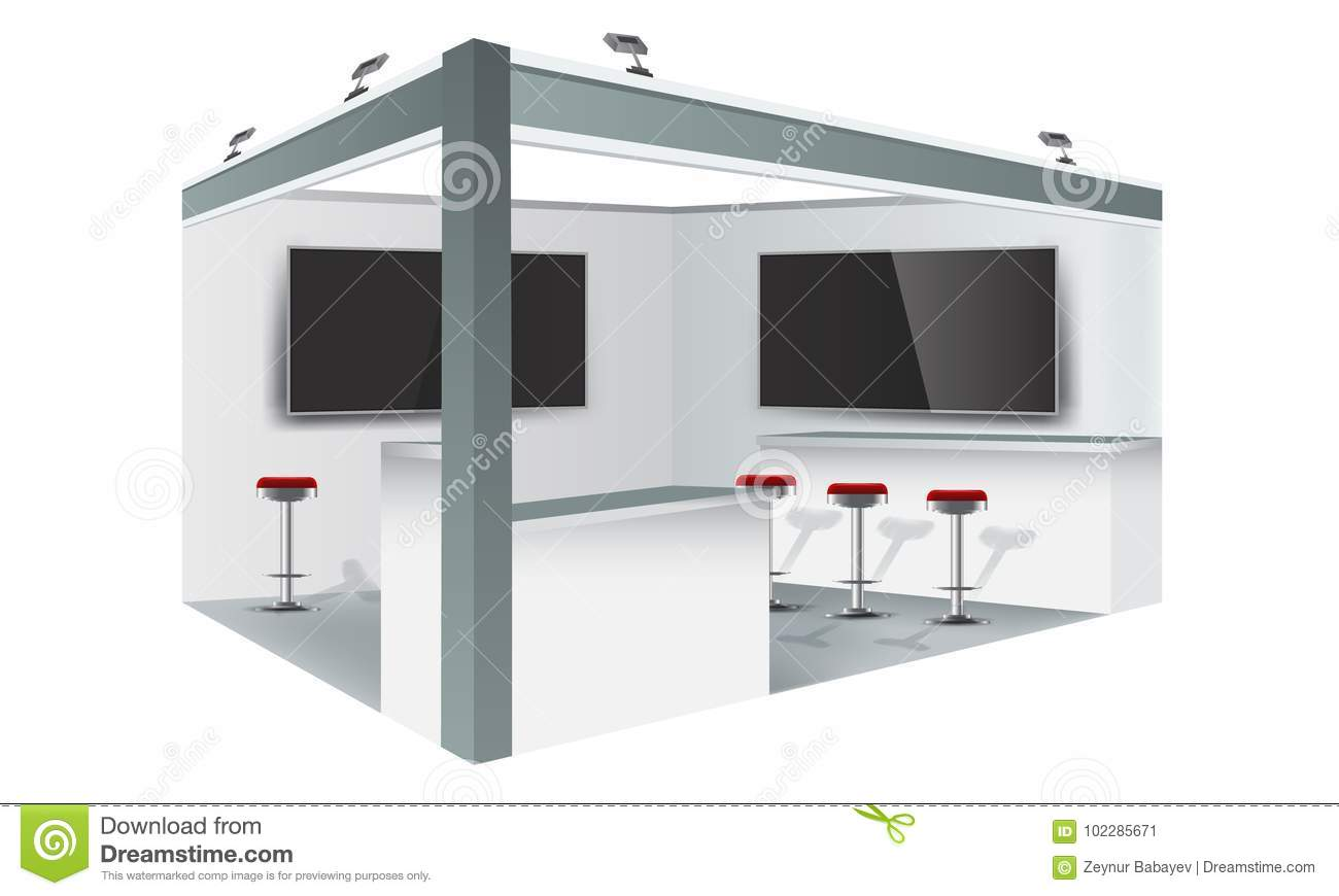 Exhibition Booth Mockup Free Download : Exhibition stand display trade booth mockup design white and grey