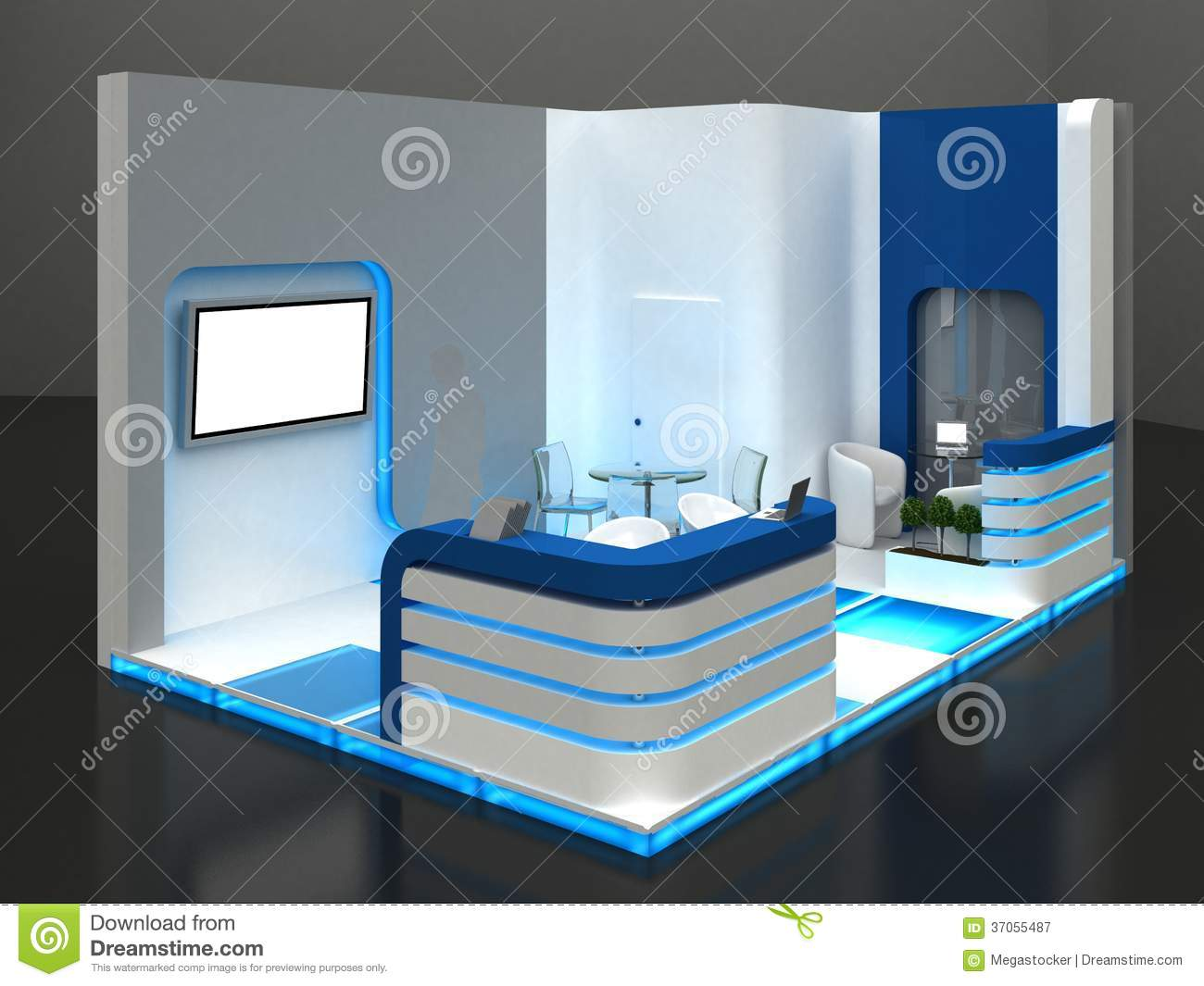 Exhibition Stand Design Sample : Exhibition stand interior exterior sample royalty free