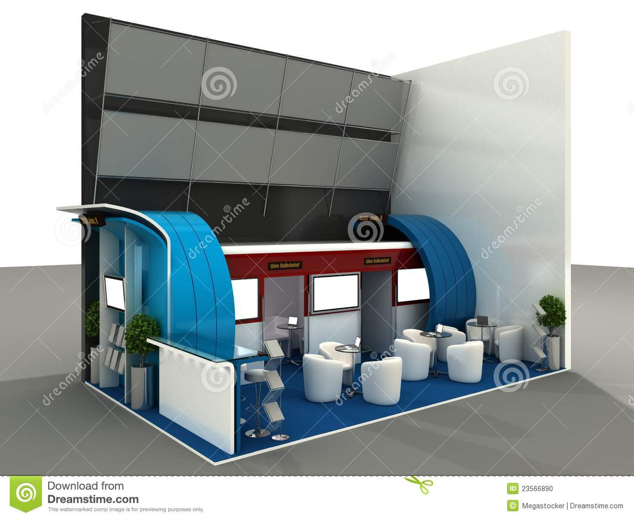 Exhibition Stand Design Sample : Exhibition stand interior sample stock photo image