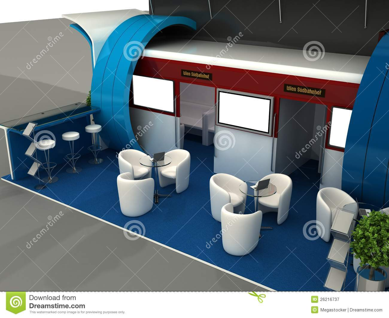 D Exhibition Stand Free Download : Exhibition stand interior sample stock illustration illustration
