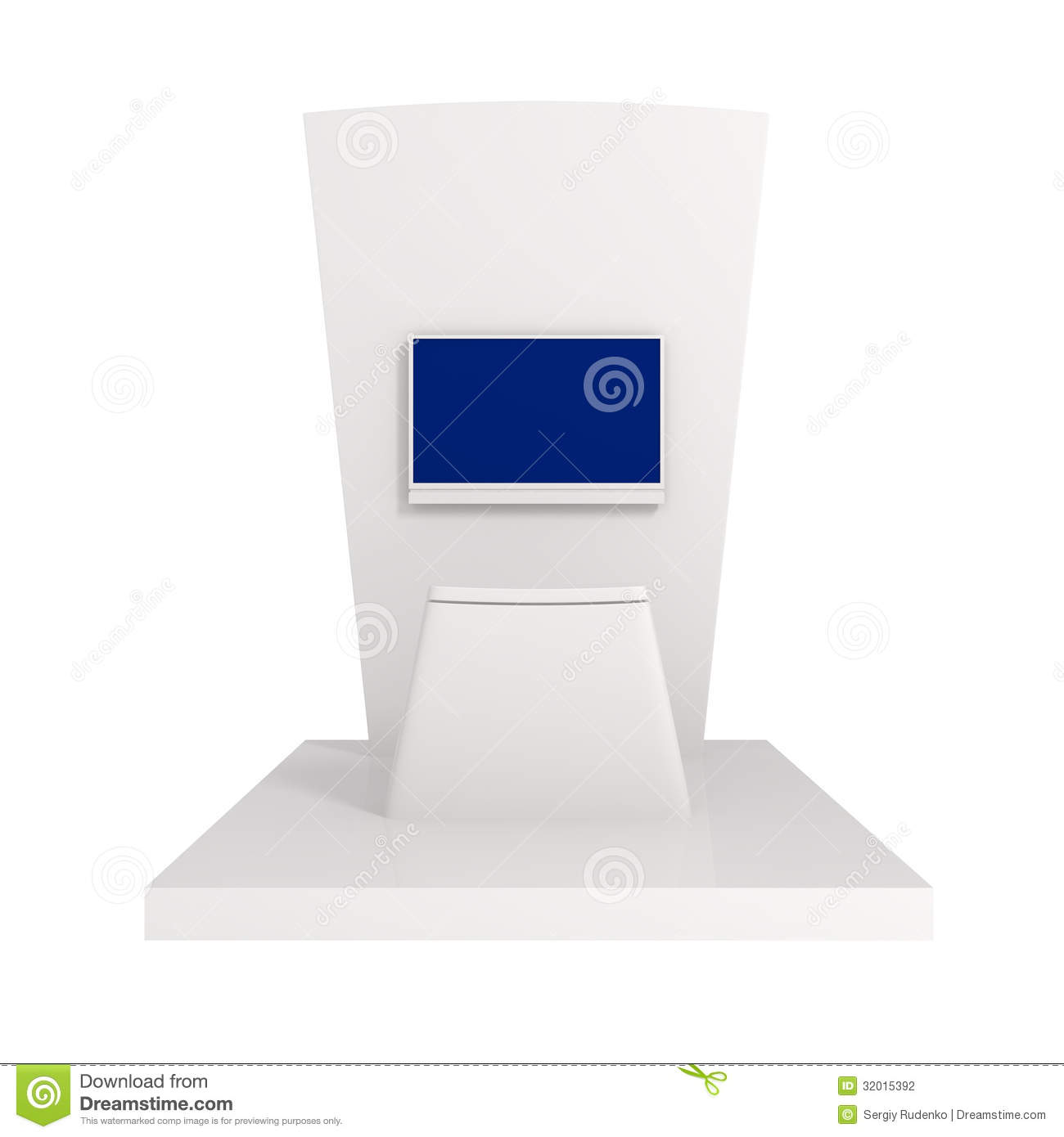 Exhibition Stand White : Exhibition stand isolated on white stock photography
