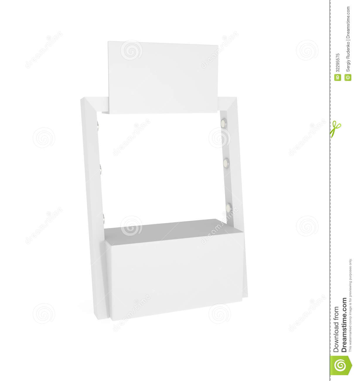 Exhibition Stand White : Exhibition stand isolated on white royalty free stock