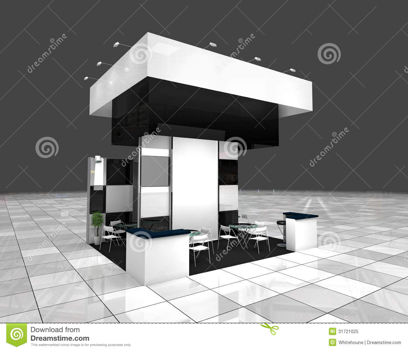 Exhibition Stand 3d Free Download : Exhibition stand stock illustration of