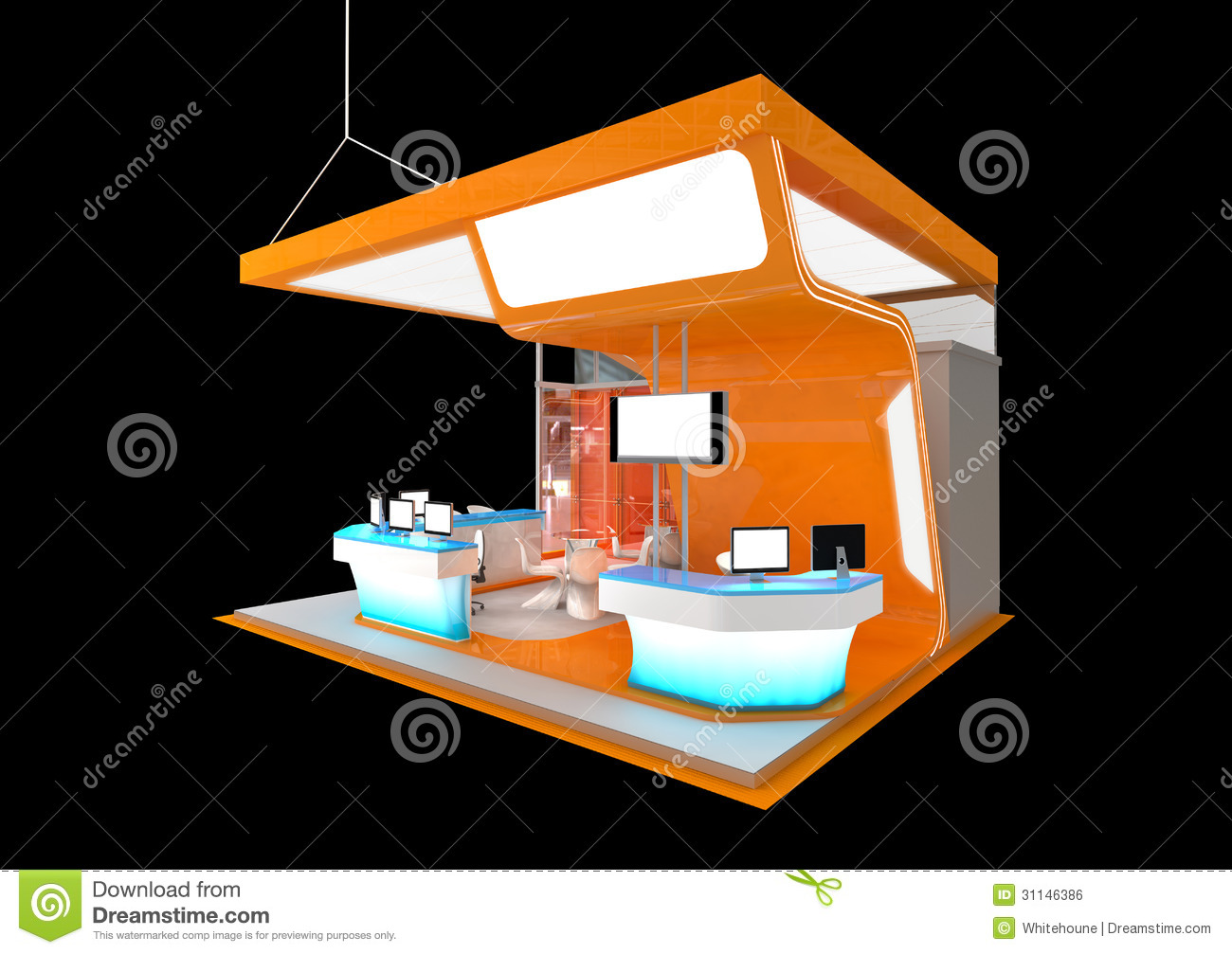 Modern Exhibition Stand Design : Exhibition stand royalty free stock image