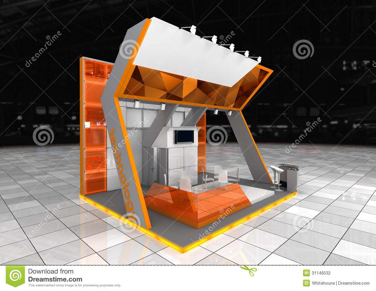 Modern Exhibition Stand Vector : Exhibition stand stock photography image