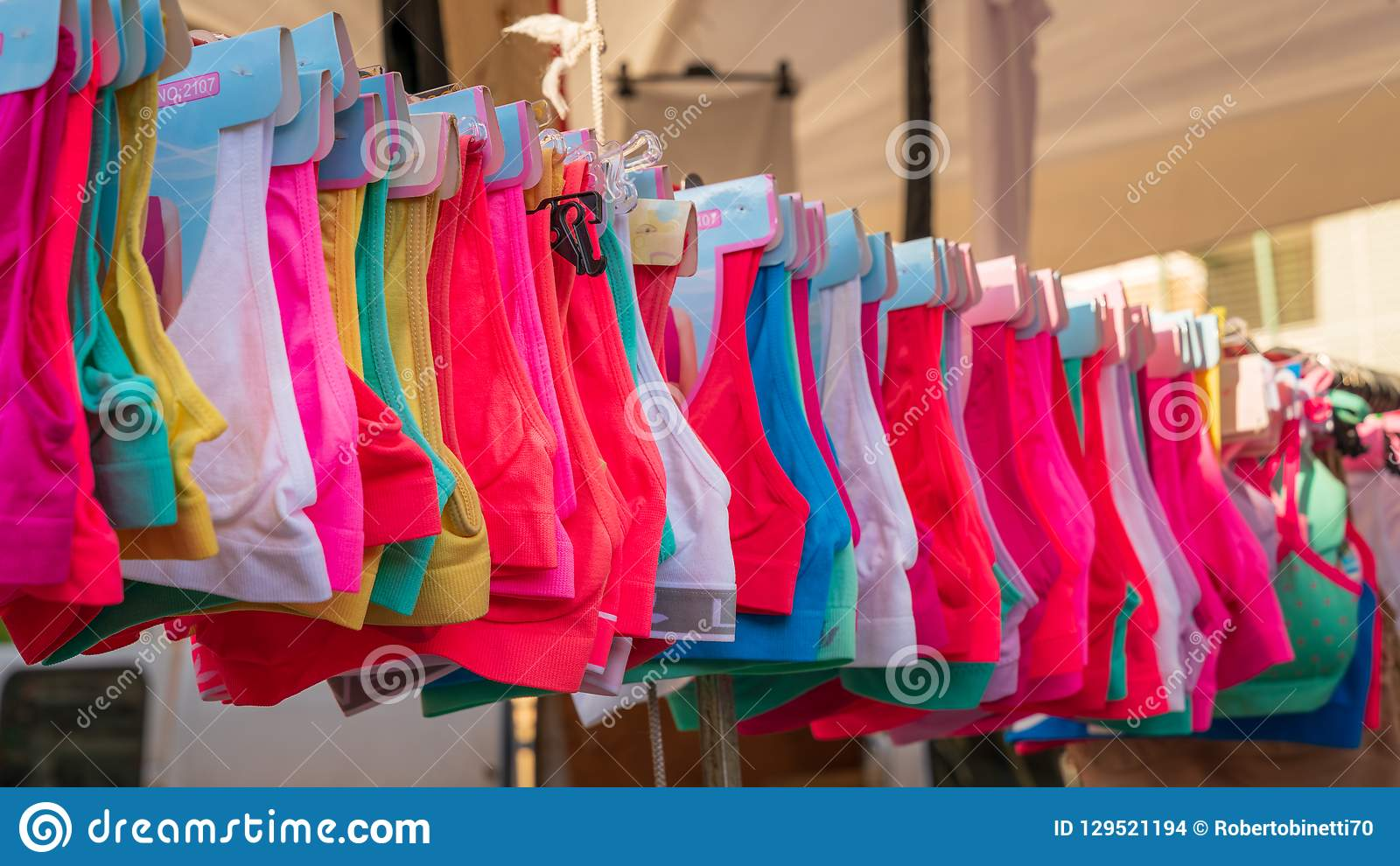 Exhibition Stand Prices : Exhibition stand and sale of sports bras stock photo image of
