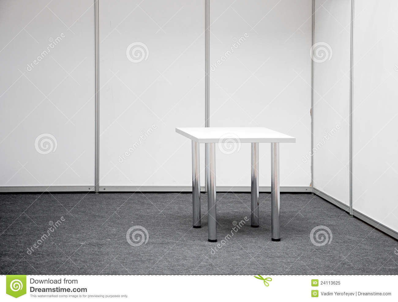 Exhibition Stand Table : Exhibition stand with table royalty free stock photo