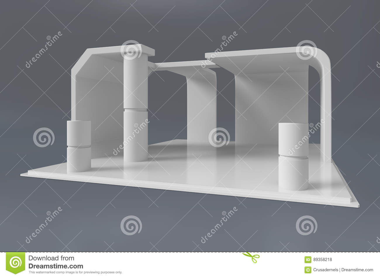 Exhibition Stand Quotation Format : Exhibition stand template stock illustration image of