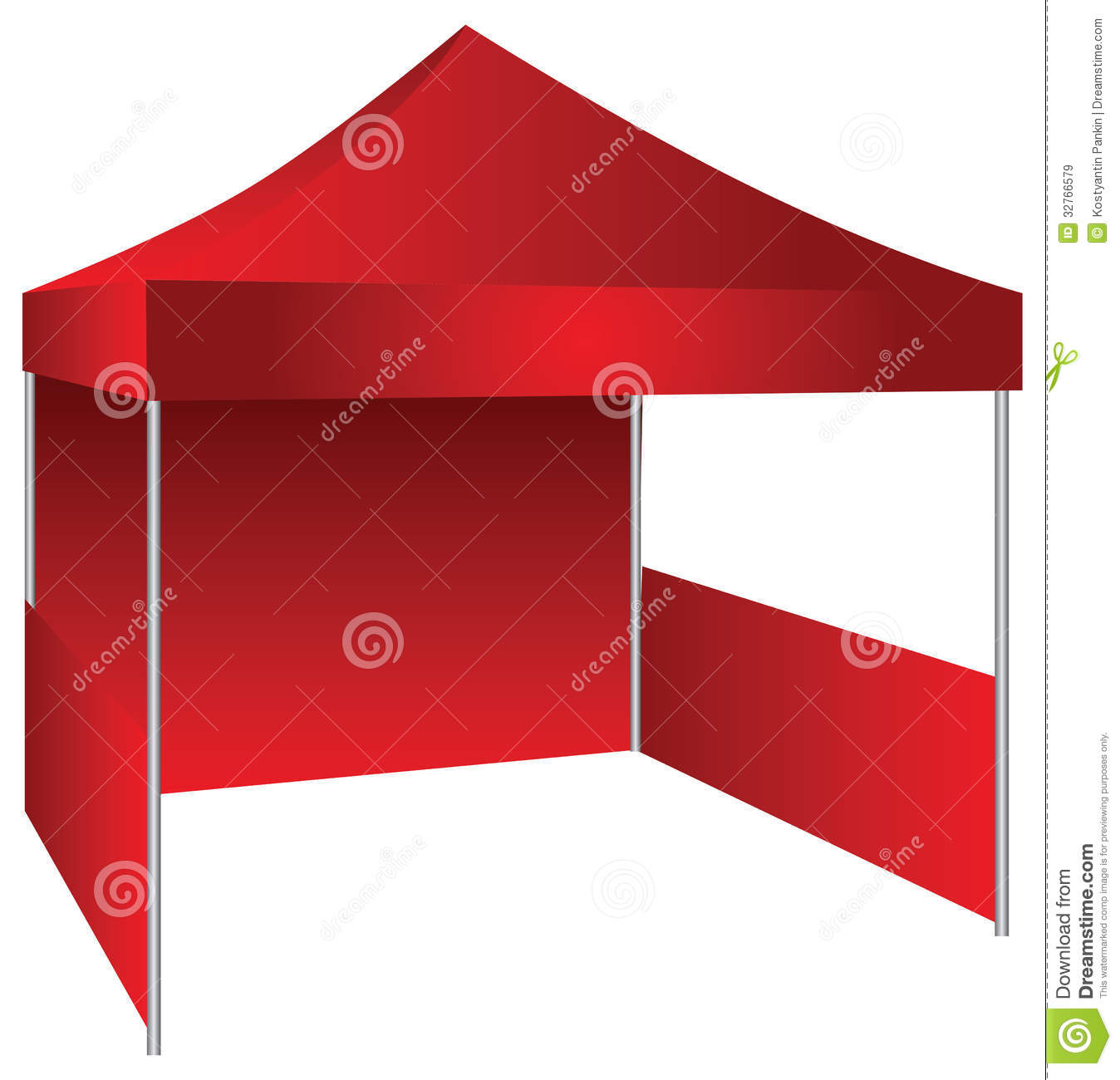 The concession stand in the form of a canopy with possible use as an exhibition canopy. Vector illustration.  sc 1 st  Dreamstime.com & Exhibition tent stock vector. Illustration of natural - 32766579