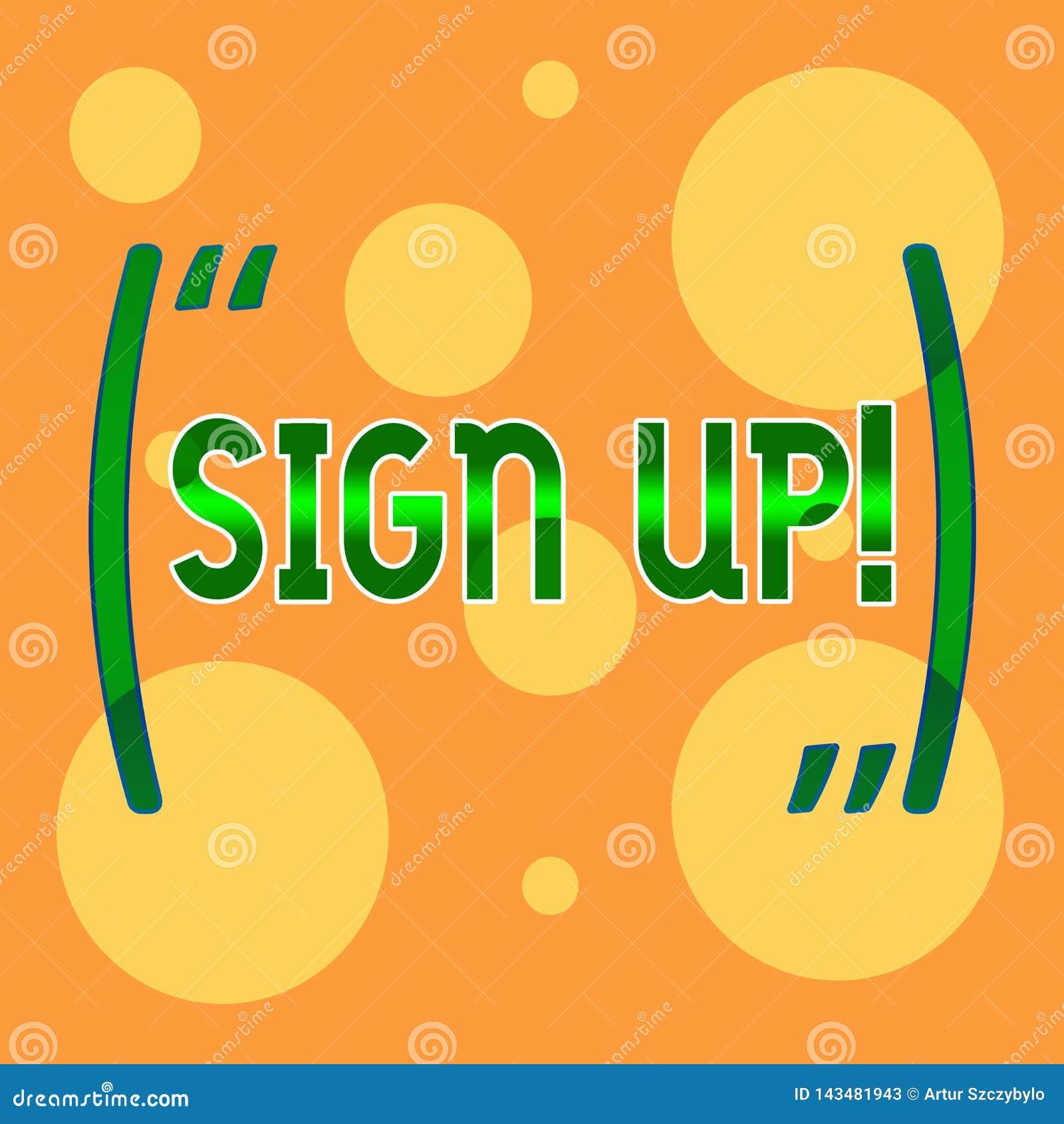 A exibição do sinal do texto assina acima Foto conceptual para comprometer-se oneself ao período de Web site do emprego ou em tam