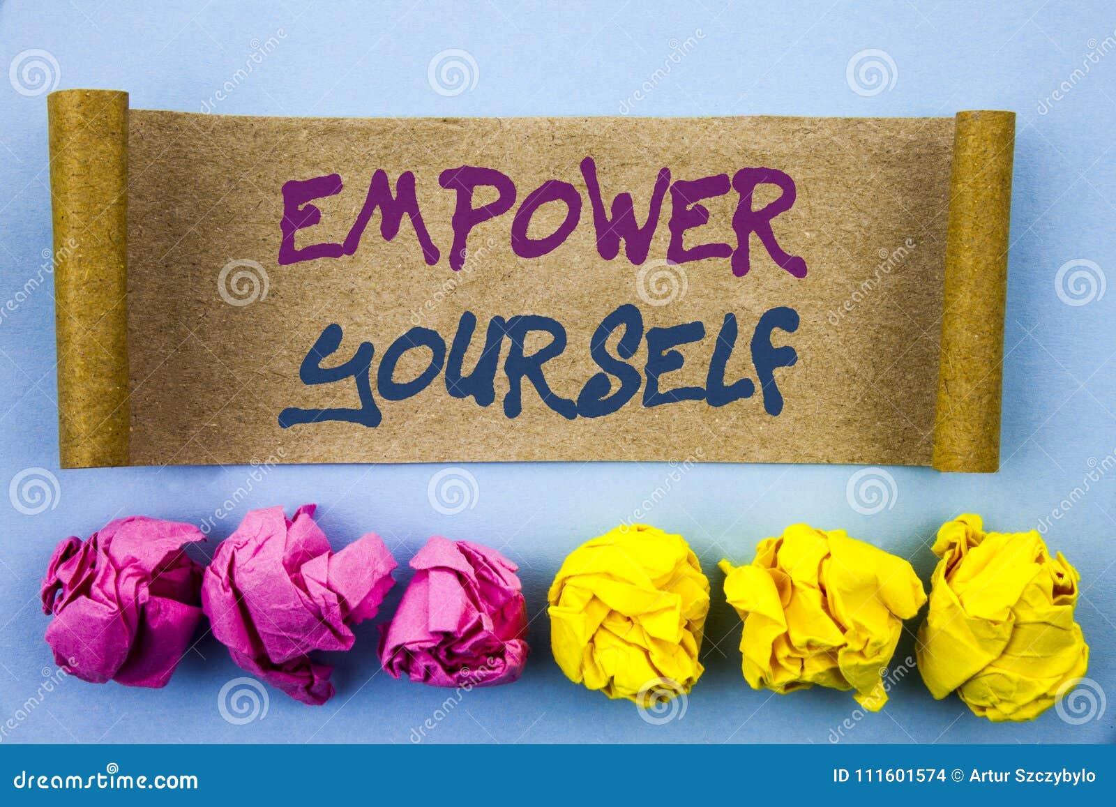A exibição do texto da escrita autoriza-se Conceito que significa o conselho positivo da motivação para o desenvolvimento pessoal