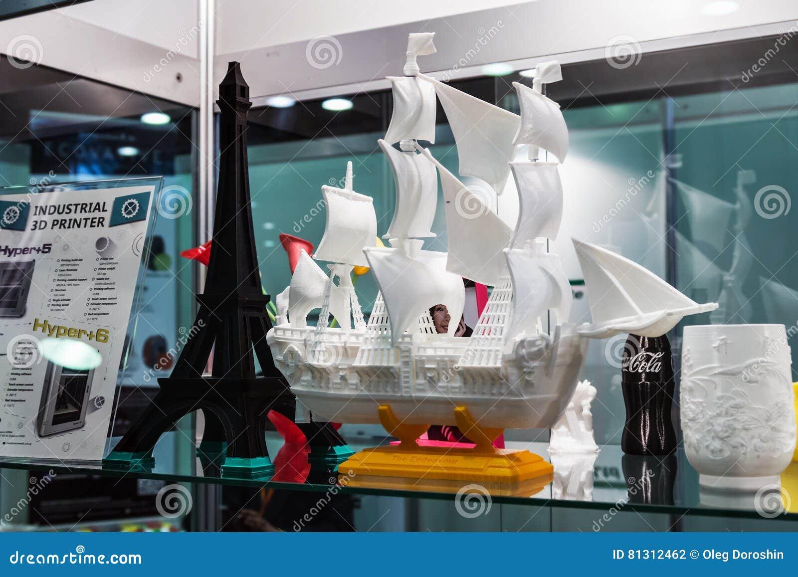 Exibições e objetos na exposição