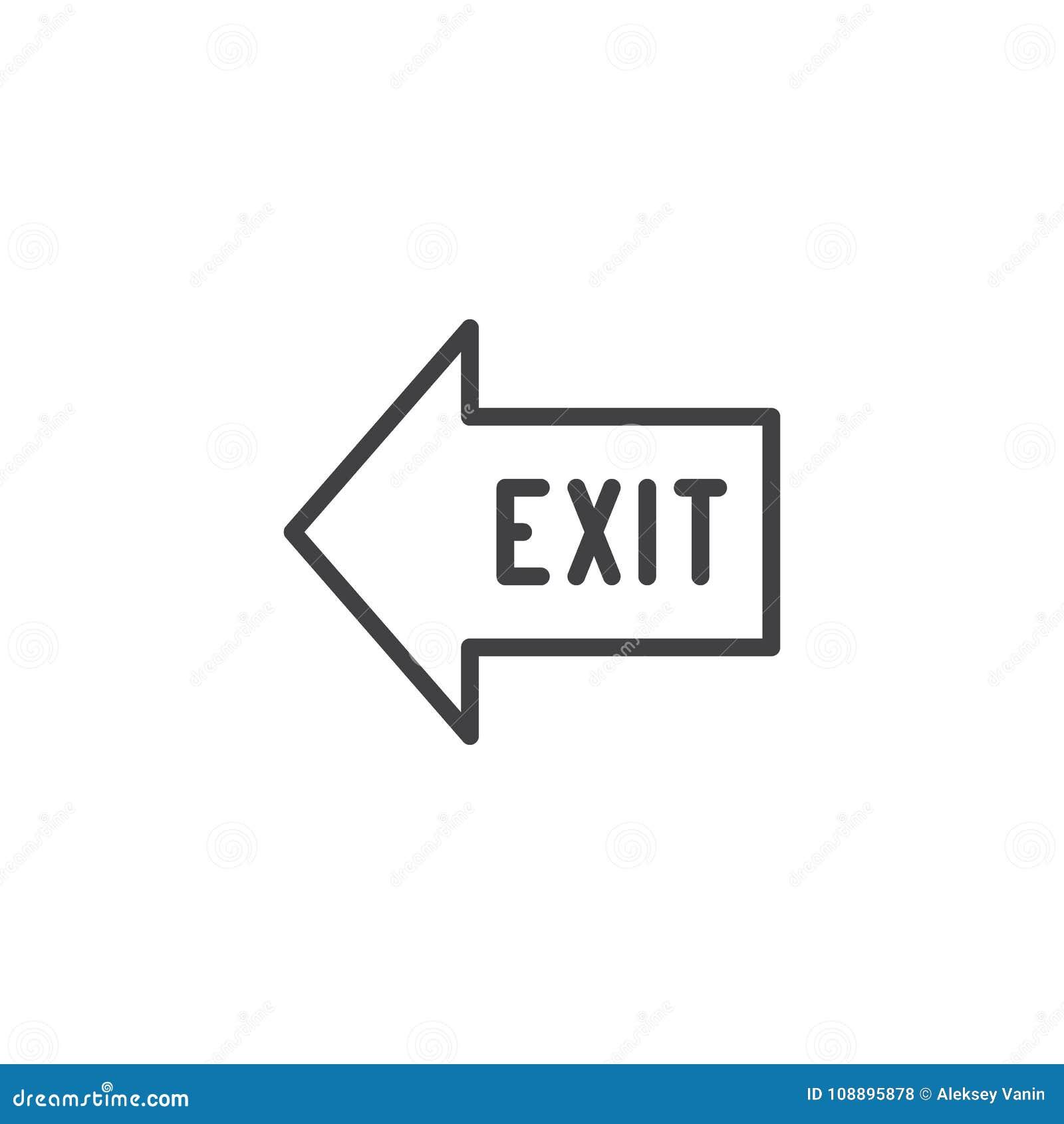Exit arrow line icon
