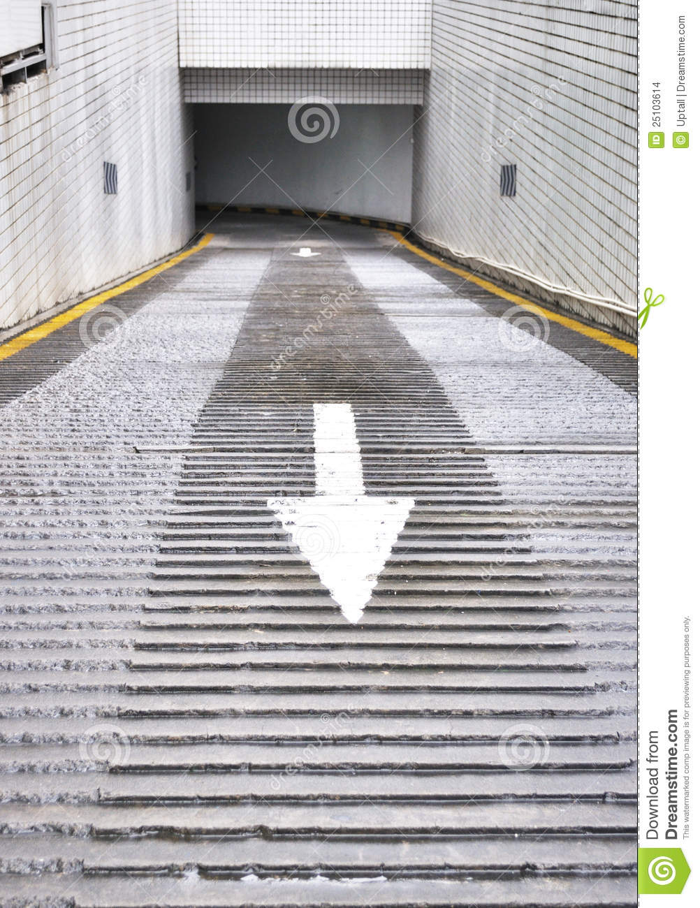Exit Of Basement Parking Lot Stock Photo Image 25103614