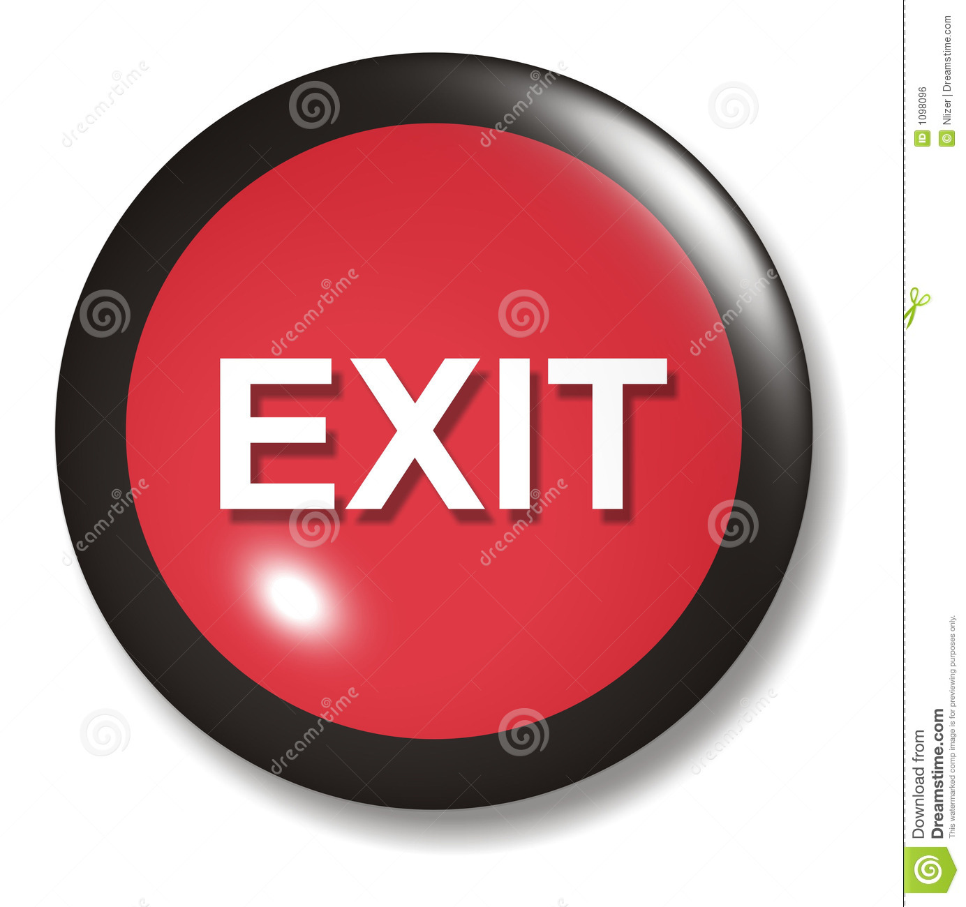 Exit Button Icon on coloring map of the united states