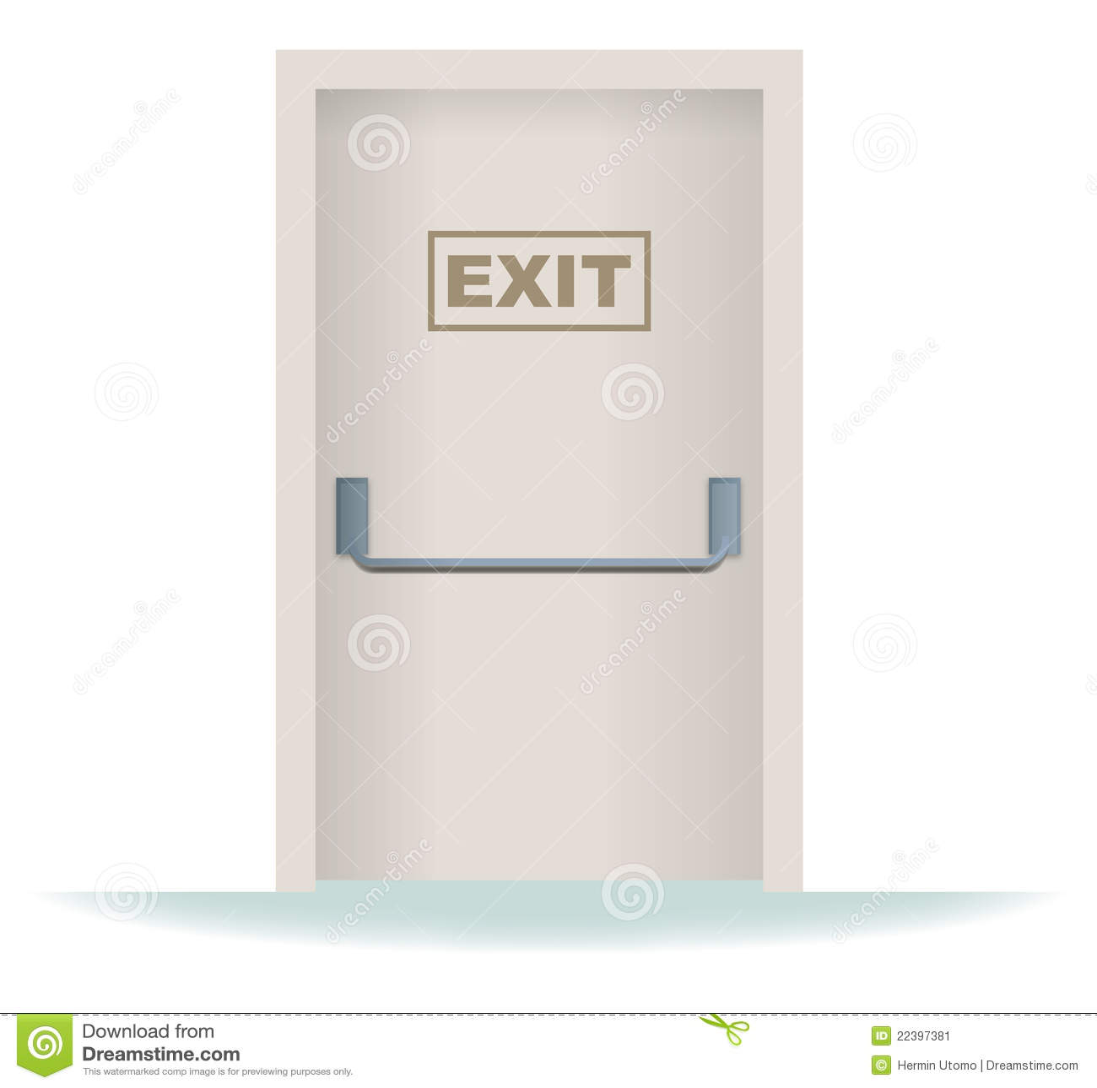 Royalty-Free Stock Photo. Download Exit Door ...  sc 1 st  Dreamstime.com & Exit Door Stock Image - Image: 22397381 pezcame.com