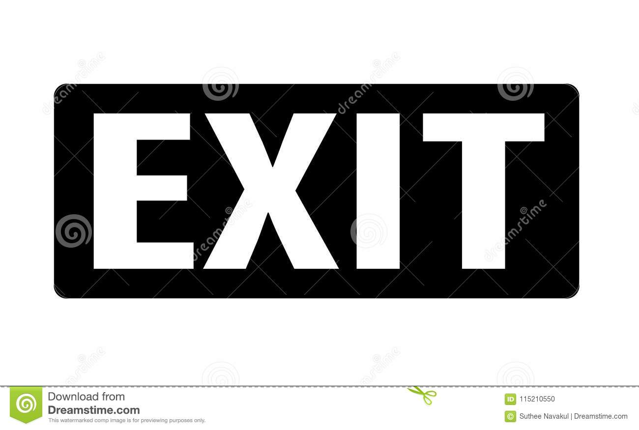 Exit Icon On White Background Exit Sign Flat Style Exit Symbol