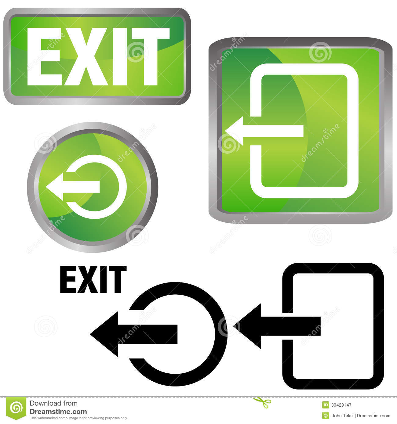 24+ Green Exit Button Png