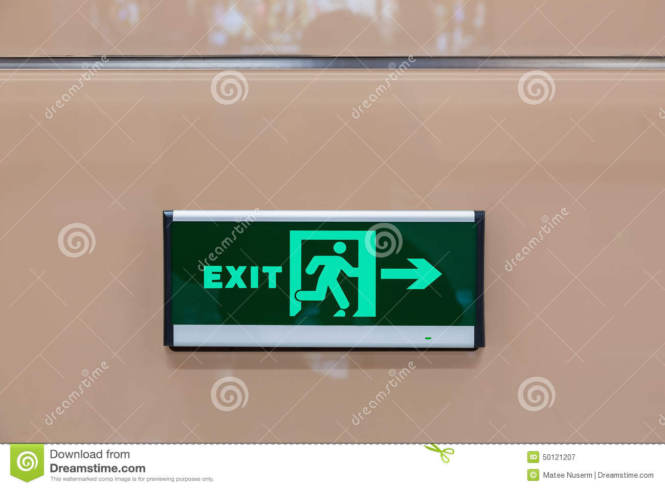 Wall Mounted Exit Lights : Exit Light Stock Photo - Image: 50121207