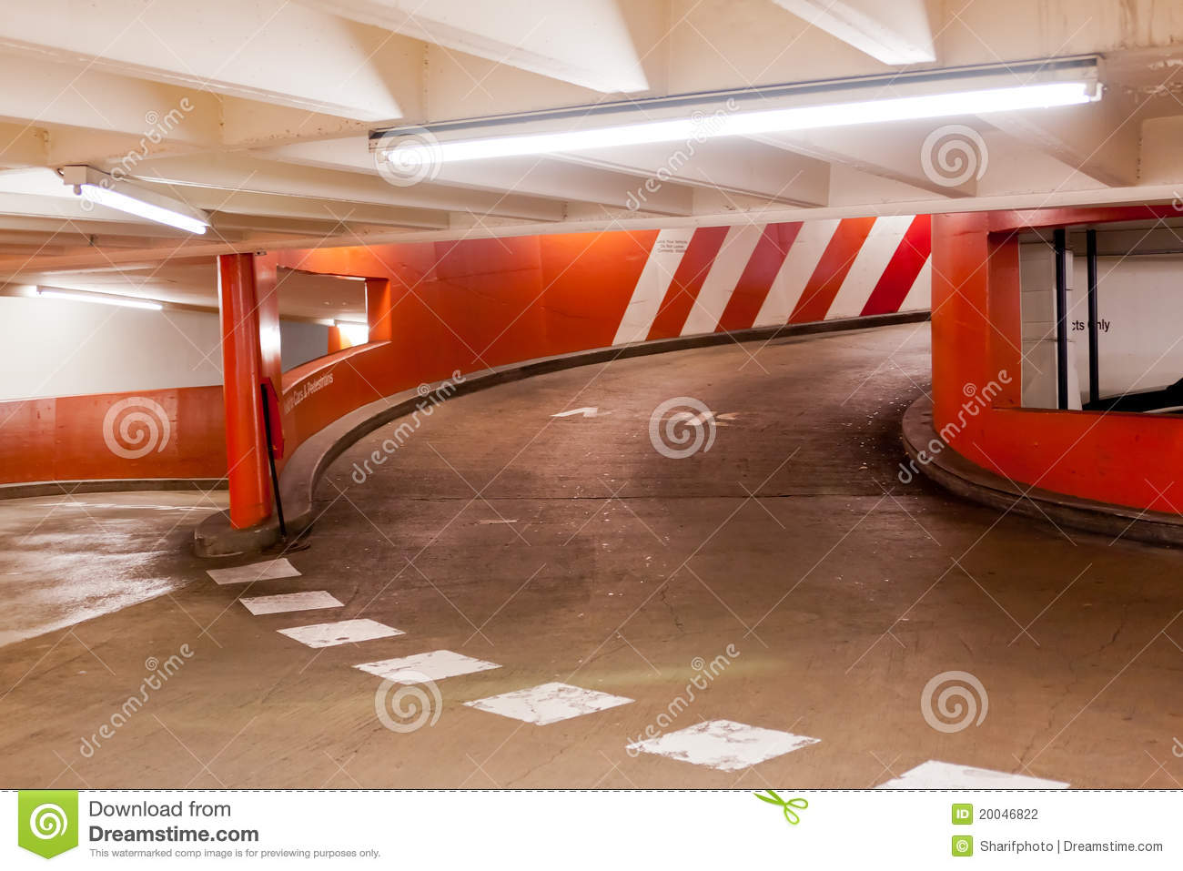 Underground Parking Exit Ramp In Parking Garage Stock Photo Image Of Parking