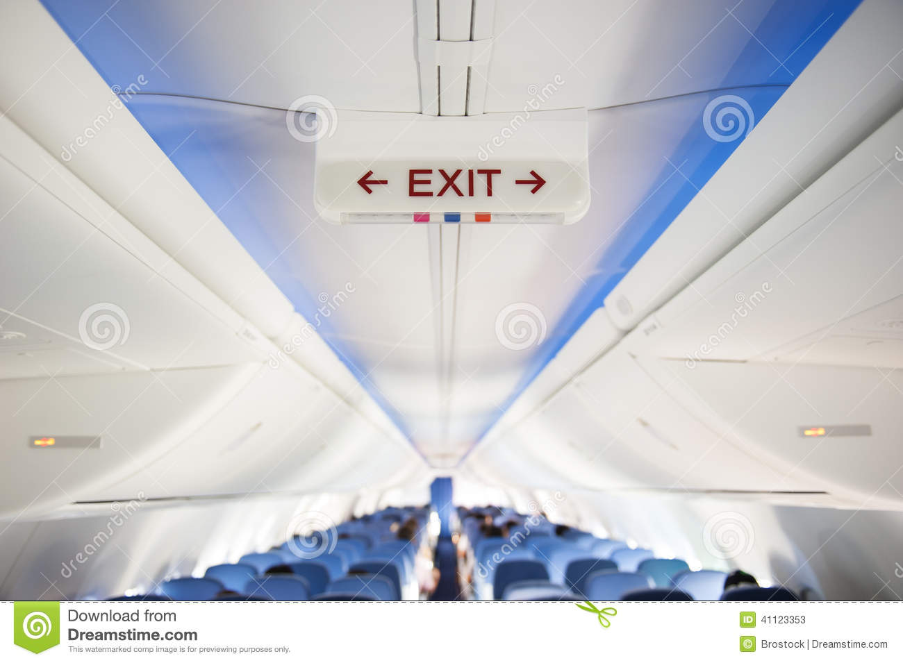 Exit Sign Stock Photo Image 41123353