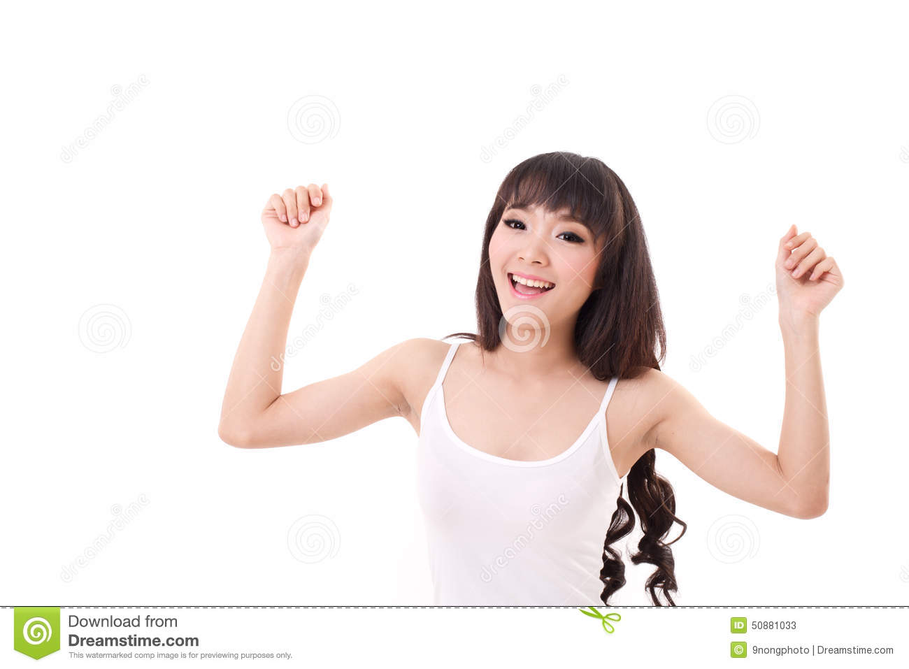 Download Exited, Happy, Smiling Woman Looking At You Or Camera Stock Image - Image of lady, cheerful: 50881033