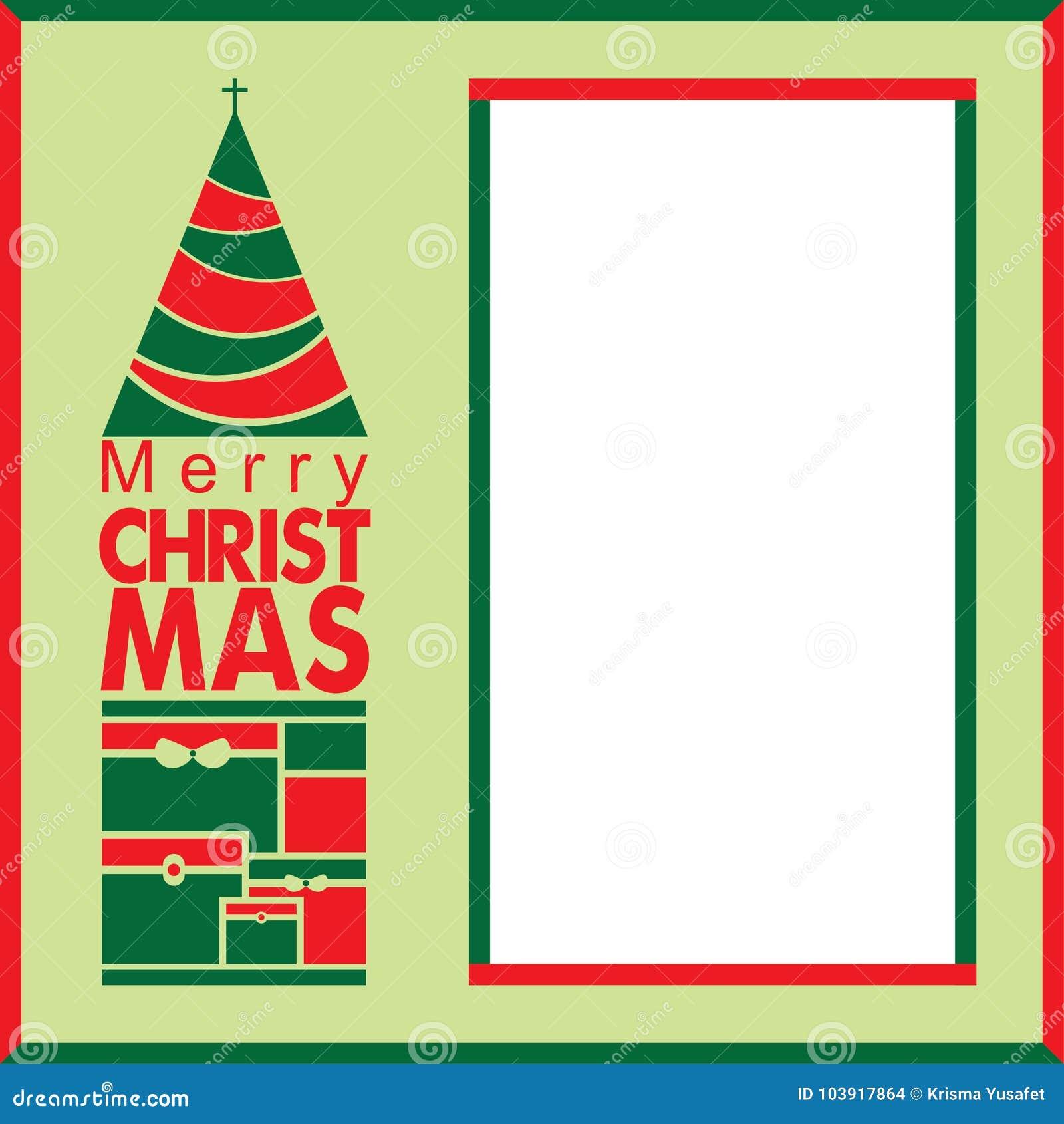 Exklusive Weihnachtsgruß-Karte mit leerem Raum