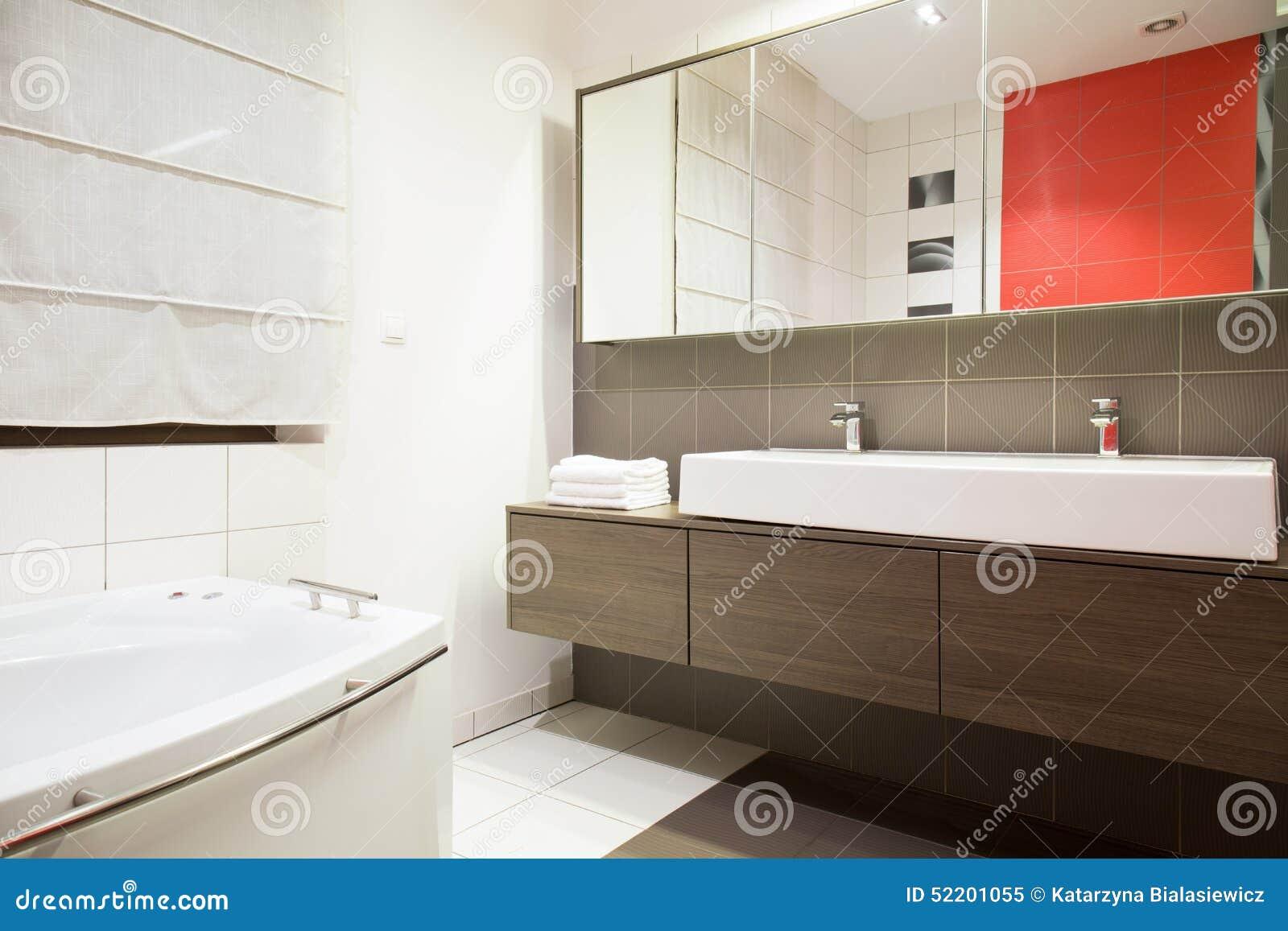 Exklusives Badezimmer stockbild. Bild von haupt, marmor - 52201055