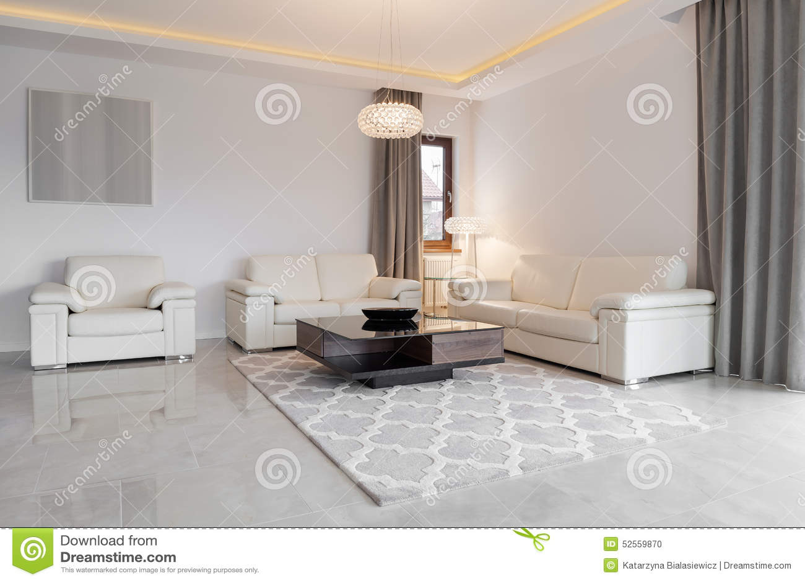 Exklusives Wohnzimmer Stockfoto Bild Von Leuchter Exklusiv 52559870