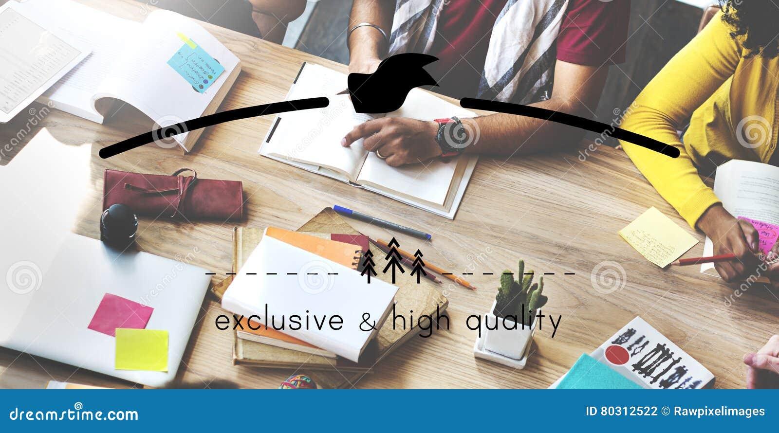 Exklusivt och högkvalitativt begrepp för utrymme för märkesMarkeing kopia
