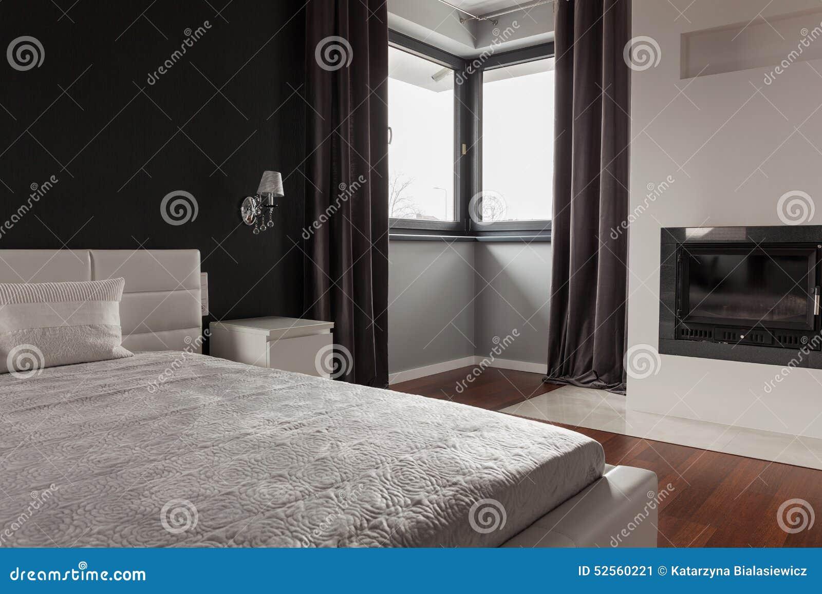 Exklusivt sovrum i modern uppehåll